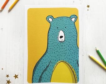 A4 Boris Bear Print