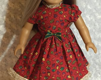 Christmas Dress for American Girl Dolls or any 18 inch doll