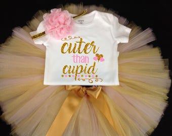 Valentines Day Tutu Set, Pink Tutu, Pink Tutu Set, Girls Tutu, Valentines Tutu, Valentines Shirt, 1st Valentines Tutu Set, Pink Gold Tutu
