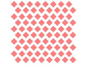 Diamond Pattern Stencil, Diamond Cookies, Diamond Offset Pattern, Diamond Baking Stencil, 5.5 x 5.5, Diamond Cookie Stencil, Diamond Stencil
