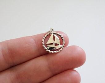 Sterling Silver Sailboat Charm, Sailboat Charm, Silver Sailboat Charm, Sailor Charm, Navy Military Charm, Navy Charm, Boat Pendant