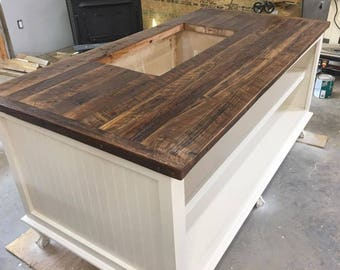 Kitchen Island With Storage Rustic Shabby Chic Wood Islands Custom Made