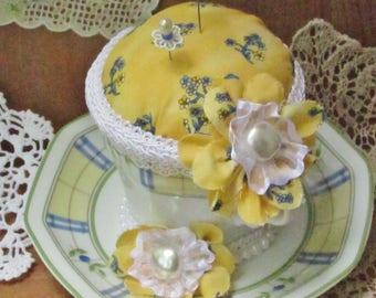 Teacup Pincushion, Birthday Gift For Her, Keepsake