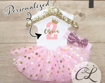 Second Birthday Tutu Outfit / Baby Girl Clothes 2 Year Old Outfit Second Birthday Set 2nd Birthday Girl Outfit Baby Tutu Bow Outfit Set 067