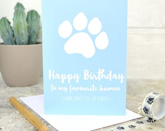 Birthday card from the dog, from the dog card, dog card, dog birthday card