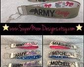 Name Tape Keychain Army Wife Army Girlfriend Army Mom Army Sister Army Bestie Army Dad Army Boyfriend Army Husband Army Brother Army Cousin