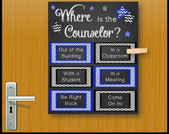School Counseling Office Decor, Where is the Counselor Sign, School Counselor Gift, Mental Health Counselor Gift, Office Door Sign