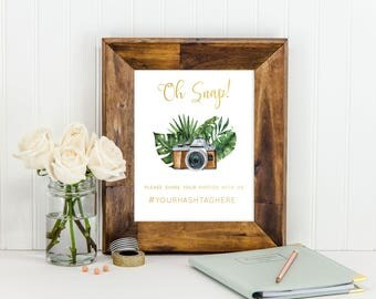 Oh Snap Tropical, Bridal/Baby Shower Sign
