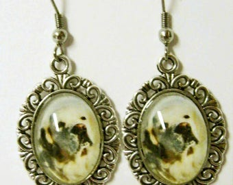Yellow labrador earrings - DAP07-096