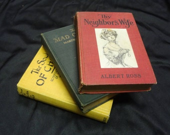 Trio (3) of Early 1900's Fiction Books