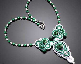 Soutache necklace Rachloe No. 03