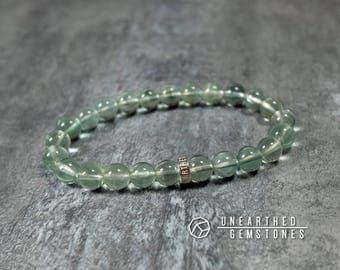 Green Fluorite Bracelet - Gift Idea for Girlfriend, Neon Green Bracelet, Mint Green Jewelry, Gemstone Bracelet