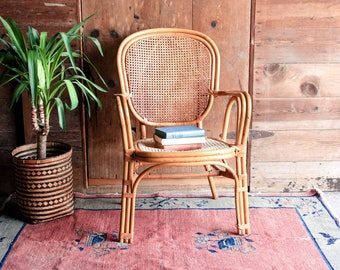 Bamboo Rattan Chairs bamboo chair | etsy