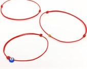 Thin Red String Bracelet - Evil Eye Bracelet - Red Bracelet - Gift - Good Luck