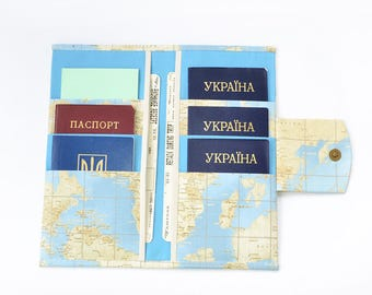 Travel accessories passport wallet travel wallet family travel wallet passport holder travel document organizer vegan wallet 6 passport wallet passport holder world map gumiabroncs Image collections