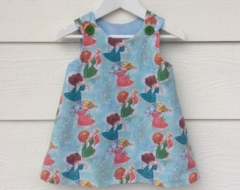 Baby girls Christmas Angels pinafore ,baby girls dress.handmade baby dress,  pinafore dress . Baby girls Christmas dress.
