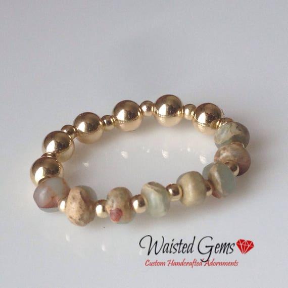 14k Gold Opal Ring, , Beaded Ring, Gift for her, Valentines Gift, 925 Ring, 14k Ring, zmw93343.0