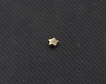 7.5mm Gold Plated Sterling Silver Star Beads -- 925 Silver Charms Wholesale For Bridesmaid Gift Party YX-Y561