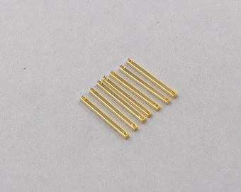 10 Pieces Gold Plated Bar Connectors For Jewelry Making Craft Supplies Wholesale Charms YHA-301-7764