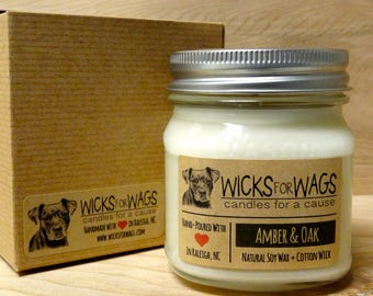 Soy Candle for Dog lovers + Vegan + Scented + Eco-Friendly
