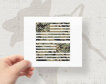 "Set of 2 - Jeep Wrangler American Camo MARPAT Flag Decals - 6"" x 3.16"""