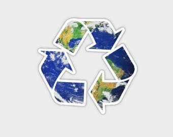 Save The Earth Recycle Bumper Sticker Decal 4""