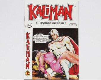 Kaliman El Hombre Increible No 95 El Asesino Invisible Revista en Español Spanish Comic RARE