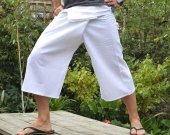 100% Thick Cotton Thai Fisherman Pants SHORTS 3/4 length