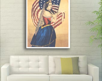 The Star-Spangled Banner - United States - 1870 - Vintage Reproduction - SG3861