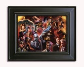 Set of 3 LIMITED EDITION 90's Animated Posters:  (Batman, Spider-Man, and X-Men)