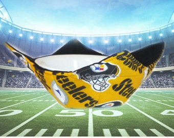 Pittsburg SteelersPrint, Bowl Cozy, Soup Cozy, Microwave Bowl Cozy, Pot Holder, Bowl Holders, Potato bag,  Football, Pot Holders,