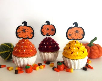Pumpkin Cupcake Toppers - Halloween Party - Our Little Pumpkin - Fall Baby Shower - Halloween Toppers - Thanksgiving Table Decor