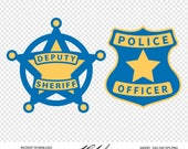Police Badge Digital Cut Files - Digital Files - Police Badge SVG - DXF - Sheriff Badge EPS - png - Vector Badge - Police Clipart - Cut File