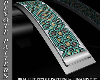 Peyote bracelet pattern, odd count, peyote pattern, stitch pattern, pdf file, pdf pattern, #105P