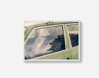 Car Photography, Color Print, Wall Decor, Photography Print, Art Work, Mint Green, Colourful Art, Wall Art, Photo Art, Vintage Car Photo