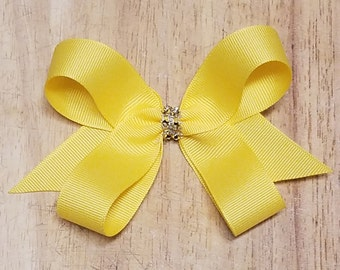 Small Maize/Gold Yellow Hair Bows