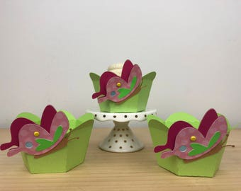 Butterfly Half Cupcake Wrapper