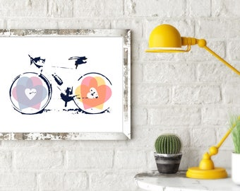 I Love Cycling Print, Print for Cyclists