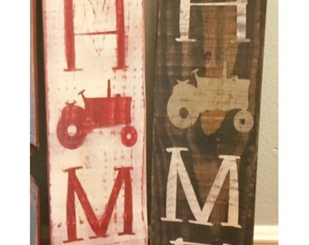 Tractor Home Sign - Farm Sign - Wooden Country Sign - Tractor Wood Sign - Rustic Decor - Country Decor - Farm Home Sign - Rustic Wooden Sign