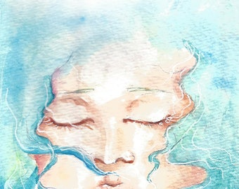 floating. | watercolor archival print