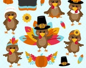 Thanksgiving Clipart, Turkey Clip Art, Turkey Clip Art, Turkey Graphics, Printable, Commercial Use