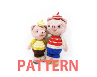 Amigurumi Crochet Pattern-Pig