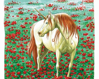 Poppies - limited edition Unicorn