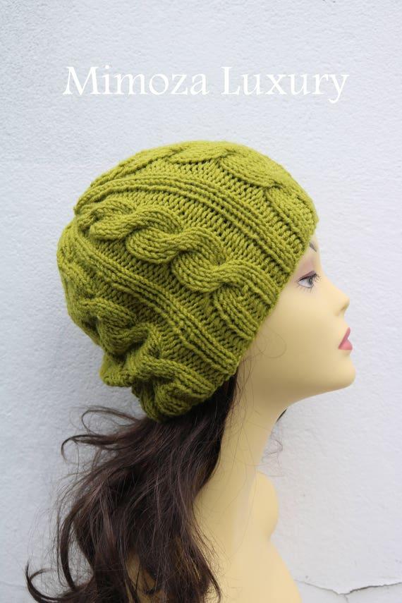 Pistachio Green women's Beanie hat, Hand Knitted Hat in green beanie hat, knitted men's, women's beanie hat, winter beanie, green ski hat