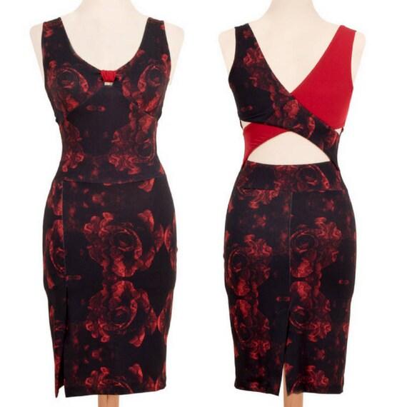 Robe de tango rouge avec bandes crois es au dos robe de for Ouvrir une fenetre dos