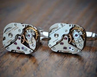 Ulysse Nardin Watch Movement Cufflinks Vintage Ulysses Nardin Cufflinks