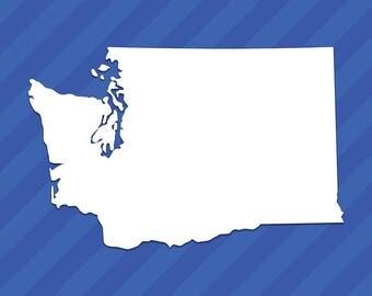 Washington WA State Outline Vinyl Decal Sticker