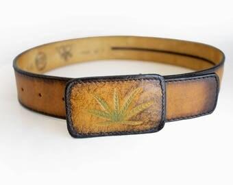 Brown Leather Belt Vintage