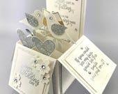 Wedding Pop Up Card - Handmade Wedding Explosion Box - Happy Wedding Day Card - Wedding Card in a Box - Stampin' Up! Wedding Card