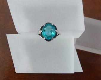 Vintage Sarah Coventry Sterling Ring/ Vintage Sarah Coventry Blue Sterling Adjustable Ring/Sarah Coventry Adjustable Ring Sterling